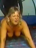 Blonde mature fucked doggy in homespy video