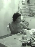 Hidden cam shoots a meal of hot nude peach