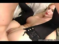 Busty milf Nina getting fucked while boobs flying