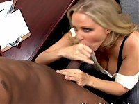 Julia Ann has hidden motives. When looking over the crop of prospective employees, one stands out: the one she wants to fuck. So she asks her boss to take a long lunch while she interviews the new applicant. But Julia Ann�s interviews consist of more T&A than Q&A. She�s going to help this guy fuck his way to the pop!!!!