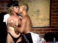 Lucky Black Man Enjoys Fucking Transsexual Cop In This ..