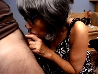 Wild amazing grandma sways back and forth on young cock
