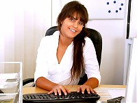 Horny office girl