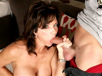 Mrs. Deauxma is one sexy mom. She�s feeling lonely until her son�s friend stops by to pay him a visit. She�s never had a younger man hit on her, until now. She�s flattered and confused and a little curious. This MILF is about to get the compliment, and fuck, of her life!!!