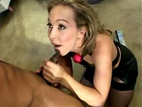 Slut In Fishnets Gets Fucked In All Holes