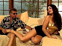Two hot milfs go on the old and mean pervert and does h..