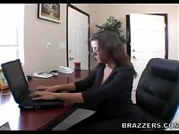 Busty Penny Flame is the new girl in the office she needs to taste her bosses cock