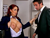 Keiran is on an important business trip with Brazzers Airline. He takes his seat and enjoys his flight. As much as he's trying to get things done before he reaches his destination, he cannot stop from being distracted by the flight attendant Kylee's Big tits. She purposely distracts him and gets aroused by his reaction. It'll only take so much before he snaps and lets her know his intentions, which in a way are similar to hers.