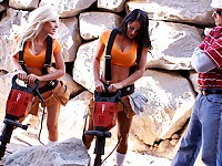 Its Kenzi and Savannah's first day on the job; construc..