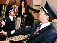 This is the final chapter of the Tits On A Plane saga where Shay Sights is craving some big cock in mid-flight and the only one who seems to have what it takes is Captain Tony Di Sergio... She'll drop by the cockpit to pay him a little visit...
