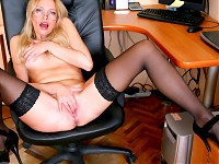 Blonde Anilos Olga has always loved to play with her pu..