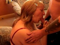 Blonde Granny Sucks