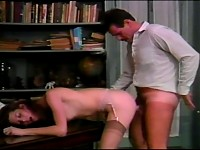 Office slut bangs cock of horny boss