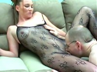 White chick Navaya fucks with stockings on