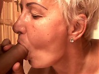 Nasty granny gets fucked and jizzed all over