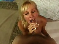 POV blowjob from a blonde MILF.