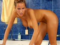 Naked Zuzanna at shower