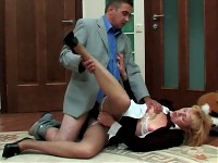 Emilia&Desmond secretary pantyhose action