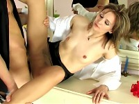 Isabella&Felix secretary pantyhose sex action