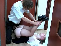 Inessa&Mike office pantyhose sex action