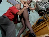 Megan&Benjamin kinky pantyhose video