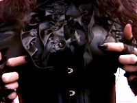 BLACK SATIN MISTRESS – FULLY DRESSED HANDJOB AND BLOWJO..