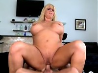 Hunter tag teams a MILF with big tits with his buddy