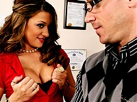 Johnny Sins has been winning all the debates this year. Carmen has a plan to be champion. She uses her big natural tits to confuse everyone in the class. Everyone is so confused that she wins the competition. Johnny is pissed because she cheated but turns into a sex machine when he finds out that those big tits are the consolation prize.