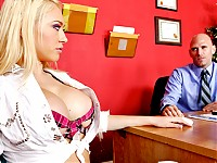 Kagney is the baddest girl in the school and will do whatever she wants to get ahead. This time she gets caught cheating on her exam and the teacher sends her to the Dean's office to set her straight. In the Dean's office she chews bubble gum and talks a lot of shit, which Johnny doesn't take very lightly.  He smacks her ass over and over with a ruler until she begins to cry and then he proceeds to fuck her all over the Dean's office. Punishment is absolute! Naughty!
