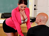 Johnny's new substitute teacher is one hot big-titted c..