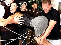 "Today is the Brazzers team building day! Activities have been planned out for the employees in order to get to know and trust one another. While playing ""The Spider Web"" Aletta gets caught up in the ropes and cant get out! As the employees move onto the next event Scott cuts through the web and frees Aletta. As we all know, hero's must be rewarded! Aletta, being the sexiest babe on earth, treats Scott to some real fuckin' Brazzers style team building. Letting him stick his cock in every one of her hot sexy fuck holes! Damn!"
