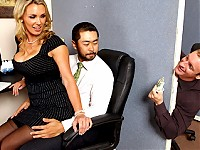 Tanya is in love with her co-worker Pete and tries to hook up with him every chance she gets. The only problem is TJ, the cock blocker of the office will never let him have her.