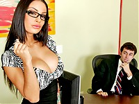 When Angelina learns that her whole team won't be getting bonuses, she takes matters into her own hands and pays a visit to her perverted boss Mr. Deen... The Tits will once again save the day!!!