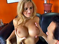 Huge titted milf Ava Ramon sucks and fucks