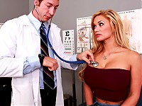 Shyla is visiting Doctor Ash due to her loss of sensitivity in her pussy. She explains that she over used her huge vibrator, so Dr. Ash does a few tests to see if he can stimulate her clit. Nothing works, so he decides to go for a more advanced treatment; sink his big dick in Shyla's tight asshole.