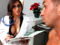 Keiran decided to become a vegetarian because his girlfriend couldn't stand the taste of his cum. After a while, he goes to the doctor for a check up to make sure that the flavor of his cum has changed. Doctor Breeze says there's only one way to find out. Even though he doesn't eat meat, it doesn't mean that she won't.