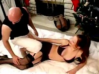 Janessa fucked doggystyle in black stockings