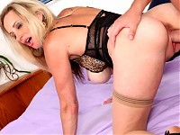 Pervert cougar milf gets her wish to get pounded hard by a hunk stud and a load of cum