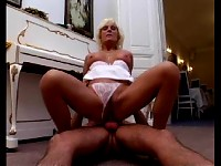 Granny fucked by a younger stud