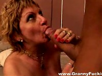 BBW Granny gets drilled by young muscle man