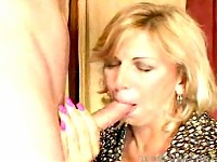 Granny sucks cock and gets fucked