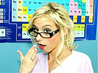 Nerdy blonde girl gets a special lesson from her teache..
