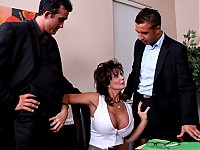 A sexually frustrated Deauxma is in the process of filing for a divorce.  She is tired of her small dick husband that doesn't understand her sexual needs.  She agrees to a sit down with her husband and their lawyers to try to see if they can work it out.