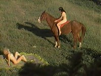 Nude sluts horseback riding