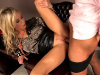 Blond Brit Babe with Dirty Mouth Gets Banged by Boss in Office
