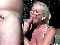 Shameless whore granny always ready to bare her wrinkle..