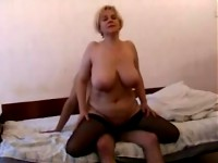 Blond whore made to suck and get fucked