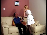 Strong MILF sits on a guys face