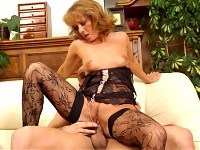 This mature cougar loves the hardcore action! Don't  let Koko's shy innocent looks fool you! This woman loves and does it all. Watch as her wrinkly pink pussy gets rammed by a young stud over and over!!