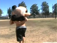 Nasty latina fists herself and is left with a load on h..